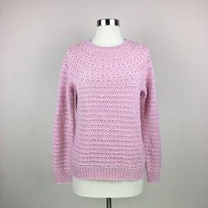 Ralph Lauren Alpaca Wool Blend Pink Sweater LP